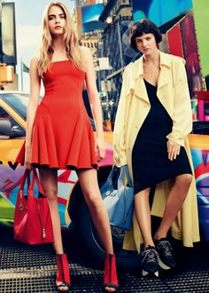 Cara Delevingne & Eliza Cummings for DKNY Spring/Summer 2014 Advertising Campaign, ph. by Mikael Jansson