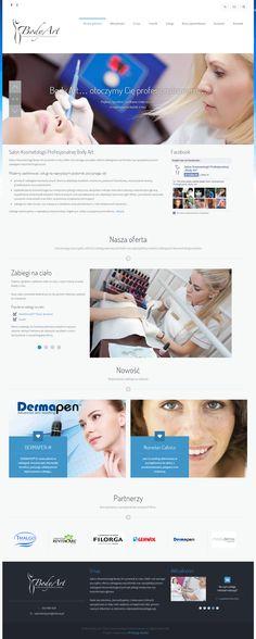Projekt strony internetowej. Salon Kosmetologii Body Art powstał w roku 2009 i od samego początku oferta zabiegowa firmy wyróżniała się specjalistycznymi zabiegami kosmetologicznymi. www.salonbodyart.pl