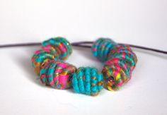 Handmade CopperFiber Bead for Artisan Jewelry by jimenastreasures