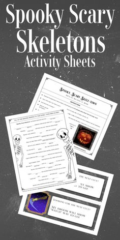 Download a pack of skeleton-themed fun with these Spooky, Scary Skeleton Activity Sheets! #SpookyScarySkeletons #HalloweenAtHome #Partner Scary Music, Spooky Scary, Activity Sheets, Skeletons, Fun Crafts, Whimsical, Have Fun, Activities, Halloween