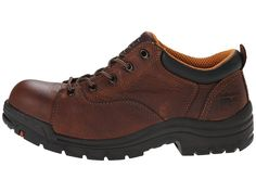 Timberland PRO TiTAN(r) Oxford Alloy Safety Toe Women's Industrial Shoes Brown Full-Grain Leather Oxford Shoes Outfit, Timberland Pro, Saddle Shoes, Black Oxfords, Wellington Boot, Steel Toe, Leather Heels, Hiking Boots