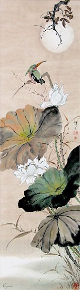 Lotus, Crane & Kingfisher: Chinese Brush Painting - Virginia Lloyd-Davies