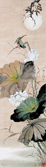 Lotus, Crane & Kingfisher: Chinese Brush Painting - Virginia Lloyd-Davies