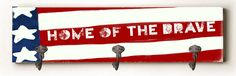 Home of the Brave Solid Wood Wall Mounted Coat Rack