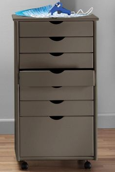 Stanton 6 + 1 Drawer Wide Storage Cart - Storage Carts & Chests - Storage & Organization - Home Decor | HomeDecorators.com