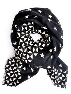 Stars & Diamonds Wool-Silk Scarf