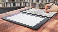 Lenovo presenta Yoga Book la primera tableta con teclado táctil    El Yoga Book  es además un dispositivo extraordinariamente delgado. De hecho el  fabricante afirma que es el tablet dos en uno más fino del mundo.     Sobró agresividad en el discurso de Lenovo en la previa de IFA la feria de tecnología que se celebra en Berlín.  La empresa china líder en ordenadores desde que compró la división de  PC de IBM con la gama ThinkPad como sello mundial ha presentado un  nuevo modelo que rompe con…