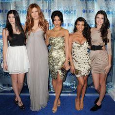 Kourtney Kardashian, Kim Kardashian, Kylie Jenner and Kendall Jenner