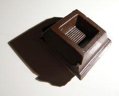 CHOCOLATE, plastic brooch  by Mira Podmanicka