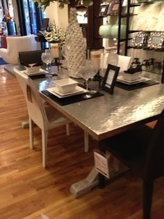I love this modern dining room table from ZGallerie