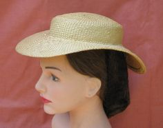 This is what a straw hat should look like (a couple of other styles are also shown on her website).  These are worn by girls and young ladies, in high-fashion but casual environments - think picnics, beach, strolling with your beau, shopping in town, but not church.  This was not a fashion for anyone over about the age of 25.