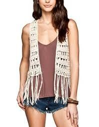 FREE CROCHET PATTERN VEST WITH FRINGE - Google Search