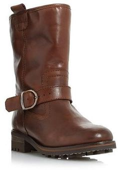 36640bb47 Womens chocolate calf length boots from Dune - £135 at ClothingByColour.com