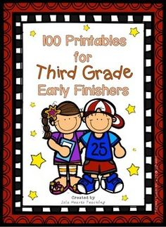 Need something to challenge your gifted and talented students who finish early? Are they always crying out for enrichment? If so, then this packet of 100 printable activities is perfect for your classroom! The work is split into MATH, CREATIVE THINKING, ENGLISH, WRITING and DRAWING...