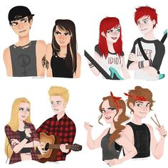 Calum and Callie Hood, Michael and Michelle Clifford, Luke any Lucy Hemmings, and Ashton and Ashley Irwin.