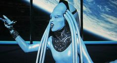 "Blue Diva from The 5th Element. Starring Milla Jovovich (See ""She's Got Game""), Bruce Willis and ""Crazy-funny"" Chris Tucker."