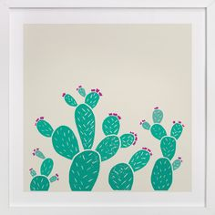"""Blooming Prickly Pears"" - Available in a variety of frame and size options."
