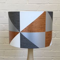 Bronze Silver Grey White Graphic Lampshade,  Lightshade, Modern Lightshade / Various Sizes / Animal Print / Orange Black Brown