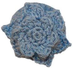 "1 1/8"" Lt. Blue Crochet Flower Button (28mm)"
