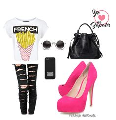 #popstyle #pumps #pink #girly #streetchic #streetstyle