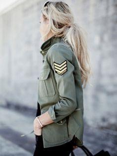 la veste militaire femme