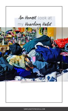 I'm coming clean with you about how terrible I am in keeping house. Watch me struggle with my hoarding habit in No Mess Mondays every last Monday of the month. I hope it inspires you to face your closet, your email inbox, or your CD collection –- whatever's been niggling at the back of your mind over the years.