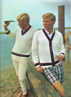 Columbia-Minerva Hand Knits for Men I'm definitely pretending all these men are gay couples.