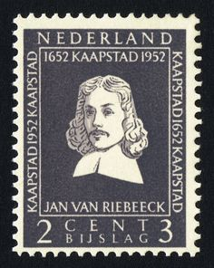 Jan Riebeeck founder of Capetown and is the main reason behind the close links with South Africa and The Netherlands. African Symbols, Postage Stamps, South Africa, Holland, History, Pictures, Art, World, The Nederlands