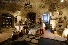 Medieval kitchen.