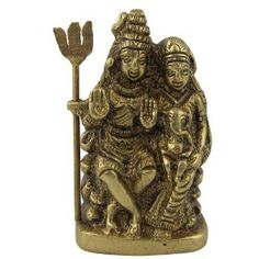 Collectible-Figurines Hindu Religious Statue Brass Sculpture Lord Shiva Size : 4.44 x 1.90 x 6.35 Cm: Amazon.co.uk: Kitchen & Home