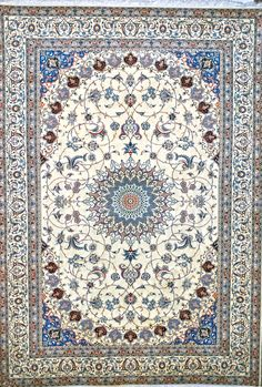 Naeen 6line Wool Persian Rug - Item# AB-1480   Size: 225 x 324 (cm)      7' 4 x 10' 7 (ft)