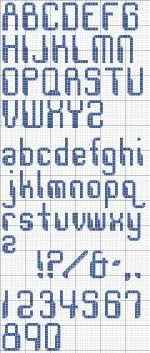 MS Dos style Alphabet Cross Stitch