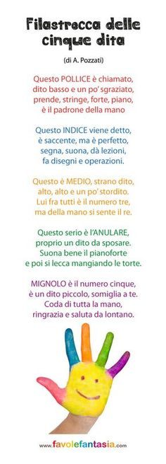 cinque dita Home Activities, Learning Italian, Primary School, Nursery Rhymes, Kids Playing, Fun Facts, Kindergarten, Homeschool, Language