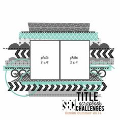 SS Sketch 03 - Scrapbook Challenges I could use washi tape stripes. Scrapbook Layout Sketches, Scrapbook Templates, Card Sketches, Scrapbooking Layouts, Disney Scrapbook, Scrapbook Paper Crafts, Scrapbook Supplies, Scrapbook Cards, Album Photo