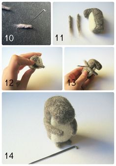 How to make a wool felt squirrel