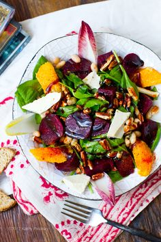 Roasted Beet Salad. Pecans. Balsamic. Citrus. Endive.