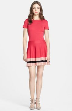 RED+Valentino+Cotton+Knit+Fit+&+Flare+Dress+available+at+#Nordstrom