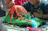 Easy DIY Volcano Cake for Your Dinosaur-Loving Child--great for a birthday cake