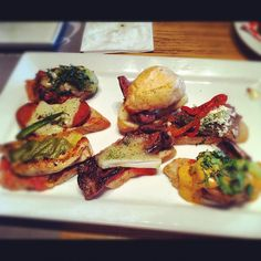 Tapas are savory finger foods served in Spanish pubs. There is always something for everyone.