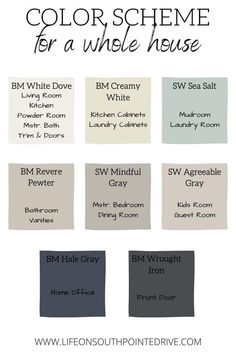 Interior Paint Colors, Paint Colors For Home, Modern Paint Colors, House Paint Interior, Paint For House, House Paint Colours, Outside House Paint Colors, Interior Paint Palettes, House Color Schemes Interior