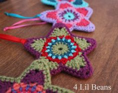 Create your own Crochet Star Ornaments!  Not only are the stars fun and easy to make, but they are also a great gift idea for your friends and family for the holidays!  The pattern is an Instant PDF Download.  The pattern is written in English using Standard American crochet terms. Its easy to follow with instructions and photos to go along with each round. Skill Level- Advanced Beginner The skills you need for this pattern are: - Basics of crochet- sc, hdc, dc, tr, magic circle (slip ring)…