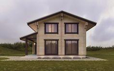 Дом в д. Ковшевичи. 124 м2 двойной брус, деревянный дом, дерево, проект дома, проектирование, wood house, light