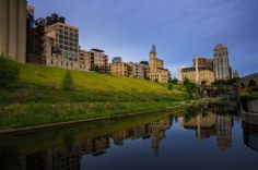 The Mill Ruins Park along the Mississippi River in Minneapolis.