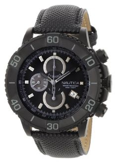 6e10c744c6 Nautica Men s NST 500 Black Polyurethane and Black Dial Watch (Watch)  Watches Collection