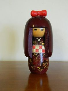 Vintage Japanese Kokeshi Doll by Imnotoldimvintage on Etsy, $15.00