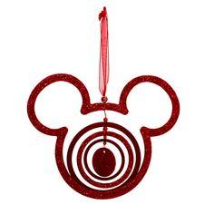 Décoration de Noël rouge Mickey  A découvrir sur Disneystrore.fr