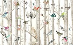 Designer News and Views from Fabrics and Papers - Bird wallpaper bedroom designs