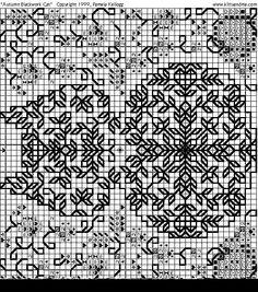 Blackwork Cat Pattern.