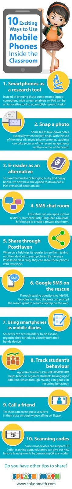 Trading & Currency infographic & data 10 Exciting Ways to Use Mobile Phones Inside the Classroom. Infographic Description 10 Exciting Ways to Use Mobile Teaching Technology, Technology Integration, Educational Technology, Teaching Resources, 2015 Technology, Technology Management, Technology Tools, 21st Century Classroom, 21st Century Learning