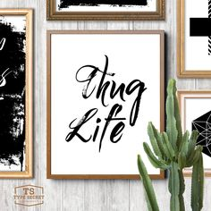 """Digital download printable """"THUG LIFE"""" quote poster home word art gangster print gangster quote gangster poster thug quote by TypeSecret on Etsy https://www.etsy.com/listing/263237398/digital-download-printable-thug-life"""